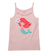 Carter's® Girls' 2T-6X Light Pink Mermaid Printed Tank