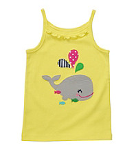 Carter's® Girls' 2T-6X Yellow Whale Applique Tank