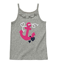 Carter's® Girls' 2T-6X Grey Anchor Applique Tank