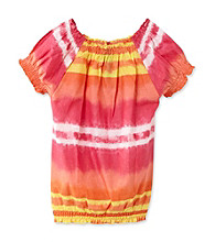 Jessica Simpson Girls' 7-16 Tie-Dye Top with Elastic Waistband