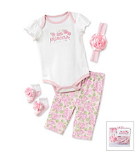 Cuddle Bear® Baby Girls' Pink 4-pc. Little Princess Layette Set