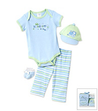 Cuddle Bear® Baby Boys' Blue 4-pc. Layette Set