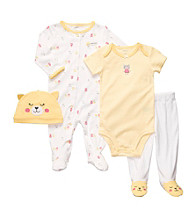 Carter's® Baby Girls' Yellow 4-pc. Cat Layette Set