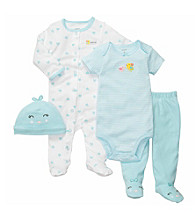 Carter's® Baby Girls' Turquoise 4-pc. Chicks Layette Set