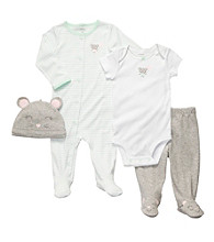 Carter's® Baby Girls' Mint 4-pc. Mouse Layette Set