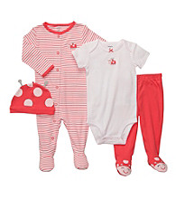 Carter's® Baby Girls' Coral 4-pc. Ladybug Layette Set