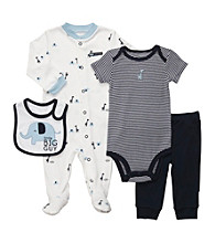Carter's® Baby Boys' Navy 4-pc. Elephant And Giraffe Layette Set