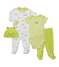 Carter's® Baby Boys' Green 4-pc. Frog Layette Set