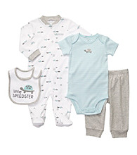 Carter's® Baby Boys' Heather Grey 4-pc. Turtle Layette Set