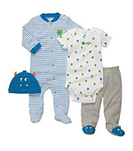 Carter's® Baby Boys' Teal 4-pc. Monster Layette Set