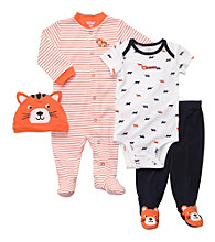 Carter's® Baby Boys' Orange 4-pc. Tiger Layette Set