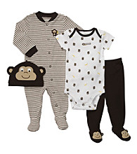 Carter's® Baby Boys' Brown 4-pc. Monkey Layette Set