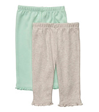 Carter's® Baby Girls' Mint/Light Grey 2-pk. Pants