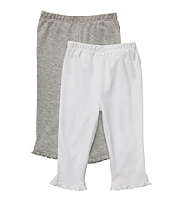 Carter's® Baby Girls' Heather Grey/White 2-pk. Pants