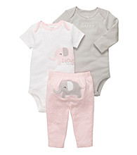 Carter's® Baby Girls' Pink 3-pc. Elephant Pants Set