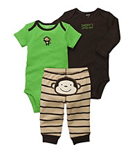 Carter's® Baby Boys' Brown 3-pc. Monkey Pants Set