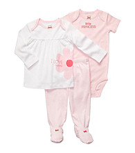 Carter's® Baby Girls' Pink 3-pc. Footed Pants Set