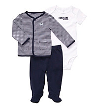 Carter's® Baby Boys' Navy 3-pc. Footed Pants Set