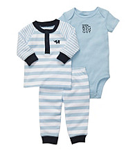 Carter's® Baby Boys' Blue 3-pc. Henley and Pants Set