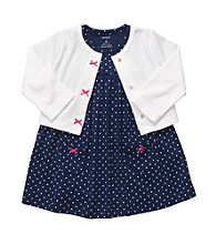 Carter's® Baby Girls' Navy 2-pc. Dot Dress Set