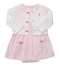 Carter's® Baby Girls' Pink/White 2-pc. Striped Dress Set