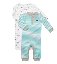 Carter's® Baby Boys' Blue/White 2-pk. Turtle Coverall Set