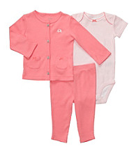 Carter's® Baby Girls' Coral 3-pc. Cardigan and Pants Set