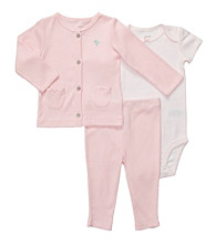 Carter's® Baby Girls' Pink 3-pc. Cardigan and Pants Set
