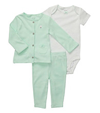 Carter's® Baby Girls' Mint 3-pc. Cardigan and Pants Set
