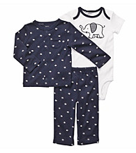 Carter's® Baby Boys' Navy 3-pc. Elephant Cardigan Set