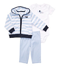 Carter's® Baby Boys' Blue 3-pc. Striped Cardigan Set
