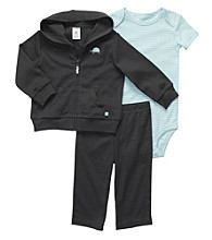 Carter's® Baby Boys' Grey 3-pc. Hooded Cardigan and Pants Set