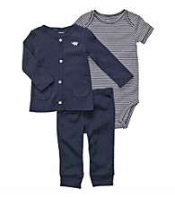 Carter's® Baby Boys' Navy 3-pc. Buttoned Cardigan Set