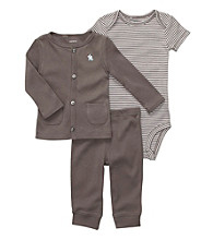 Carter's® Baby Boys' Grey 3-pc. Buttoned Cardigan Set