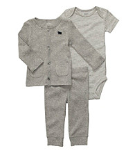 Carter's® Baby Boys' Heather Grey 3-pc. Buttoned Cardigan Set
