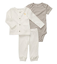 Carter's® Baby White 3-pc. Buttoned Cardigan Set