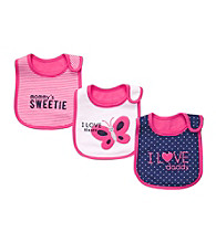 Carter's® Baby Girls' Pink/Navy 3-pk. Butterfly Bibs