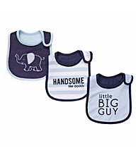 Carter's® Baby Boys' Blue/Navy 3-pk. Elephant Bibs