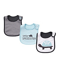 Carter's® Baby Boys' Blue/Gray 3-pk. Turtle Bibs
