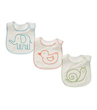 Carter's® Baby White 3-pk. Animals Bibs