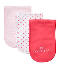 Carter's® Baby Girls' Pink/Coral 3-pk. Burp Cloths