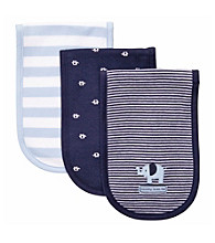 Carter's® Baby Boys' Blue/Navy 3-pk. Elephant Burp Cloths
