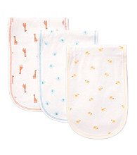 Carter's® Baby' White 3-pk. Animals Burp Cloths