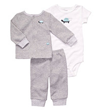 Carter's® Baby Boys' Grey 3-pc. Turtle Cardigan Set