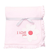 Carter's® Baby Girls' Pink Flower Interlock Blanket