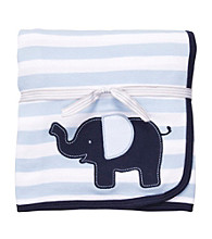 Carter's® Baby Boys' Blue Striped Interlock Blanket