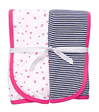 Carter's® Baby Girls' Pink/Navy 2-pk. Swaddle Blankets
