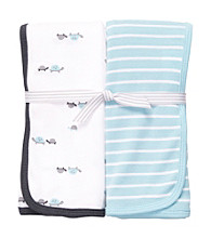 Carter's® Baby Boys' Blue 2-pk. Turtle Swaddle Blankets
