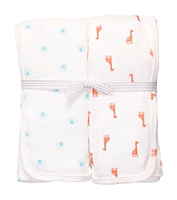 Carter's® Baby White 2-pk. Animal Print Swaddle Blankets
