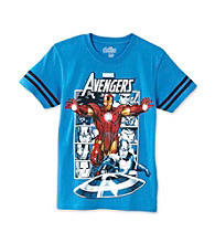 Marvel® Boys' 8-20 Royal Blue Short Sleeve Avengers Tee